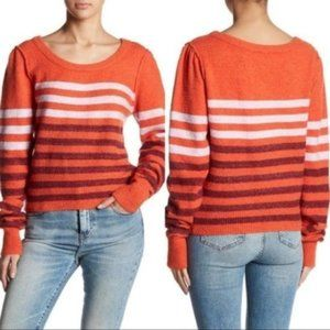 Free People Complete Me Stripe Pullover Sweater M